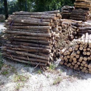 piquets acacia_solide_résistant_cloture_barrière en bois