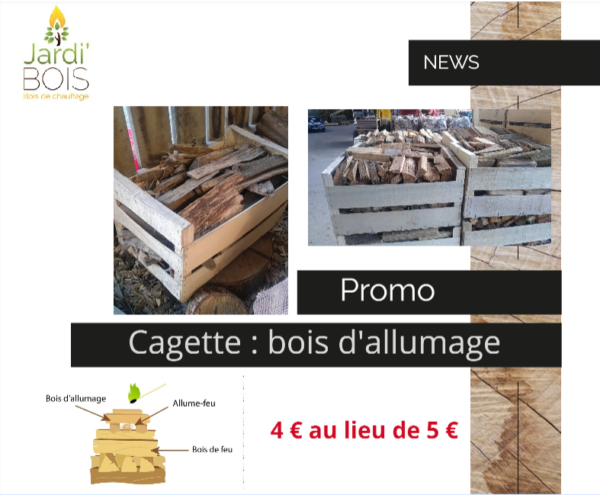 Cagette : écorce et petit bois